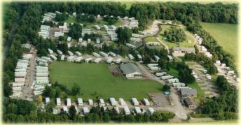 An aerial view of Hopkinsons Caravan Park and Campsite